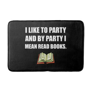 Party Read Books Bath Mat