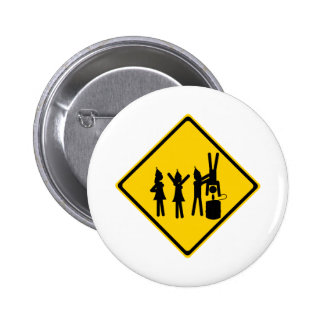Party Road Sign Button