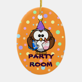 party room ceramic oval decoration