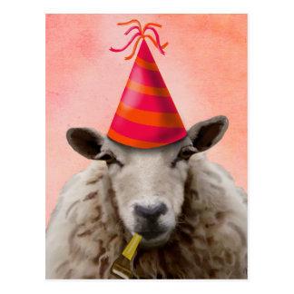 Party Sheep 2 Postcard