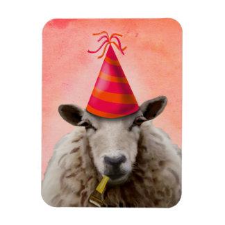 Party Sheep 2 Rectangular Photo Magnet