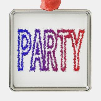 Party Silver-Colored Square Decoration