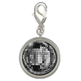 Party Silver Disco Ball Charm