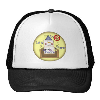 Party Smores 3rd Birthday Gifts Cap