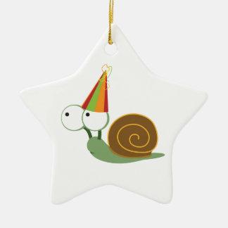 Party Snail Ceramic Star Decoration