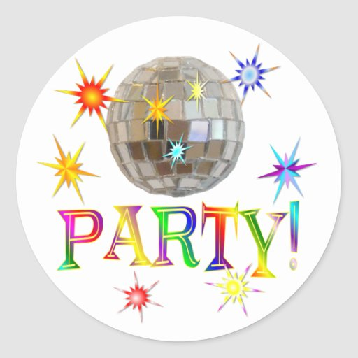 Party! Round Stickers