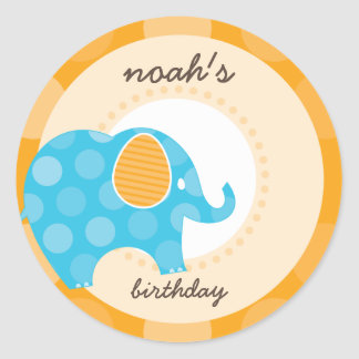 PARTY STICKERS :: elephant 1