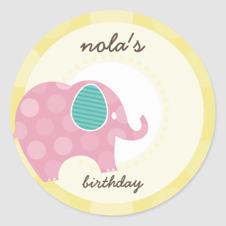 PARTY STICKERS :: elephant 5