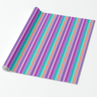 Party Stripes Glossy Wrapping Paper