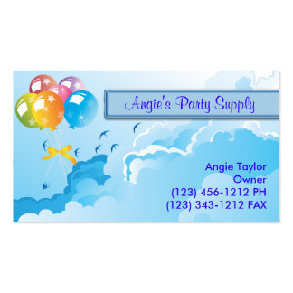 Party Supplies & Balloons Business Cards