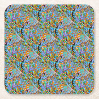 Party Supplies The Sun Ride by Lorenzo Traverso Square Paper Coaster