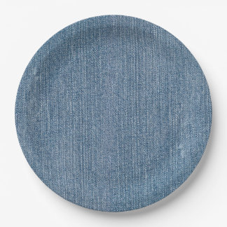 Party Supply Blue Jean Denim Paper Plate
