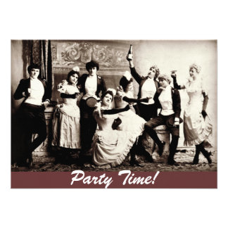 Party Time Antique Women Celebrating Invites
