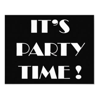 Party time birthday party 11 cm x 14 cm invitation card