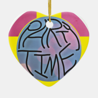 Party Time Ceramic Heart Decoration