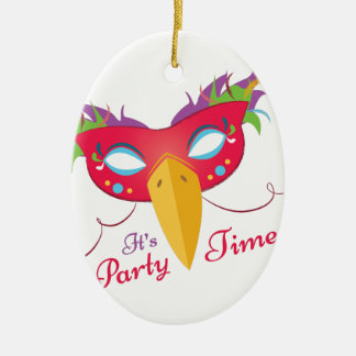 Party Time Ceramic Oval Decoration