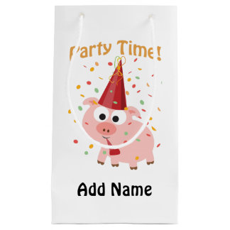 Party time confetti Pig Small Gift Bag