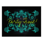 Party Time Dance Invitation template