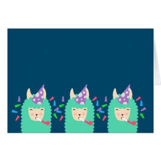 Party Time Emoji Llama Card