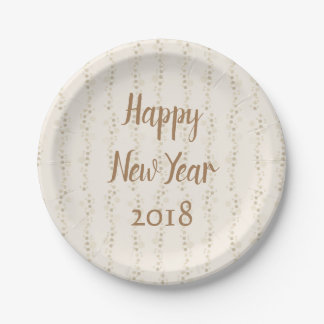 Party Time Happy New Year Paper Plate