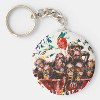 PARTY TIME KEY RING