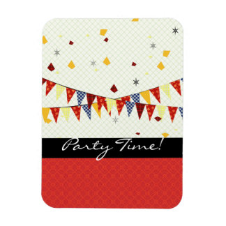Party Time! Rectangular Photo Magnet