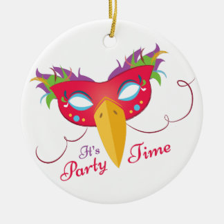 Party Time Round Ceramic Decoration