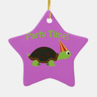 Party time turtle christmas ornaments