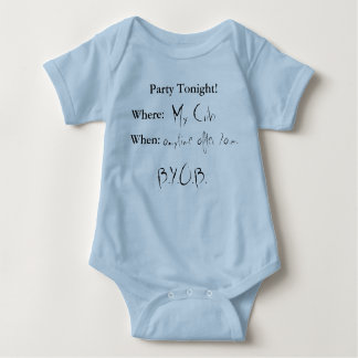 Party Tonight baby Baby Bodysuit