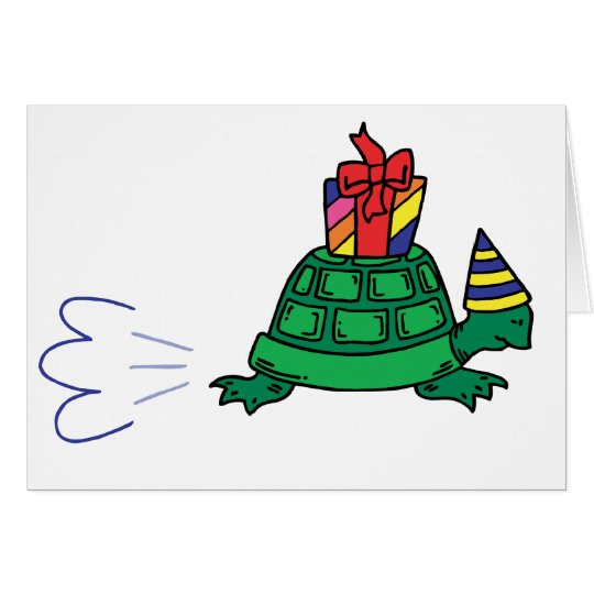 Party Tortoise Card
