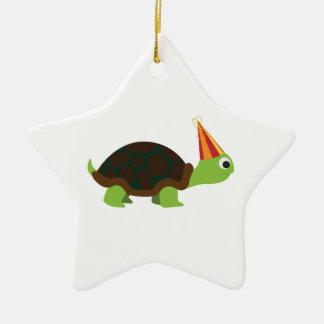 Party Turtle Ceramic Star Decoration