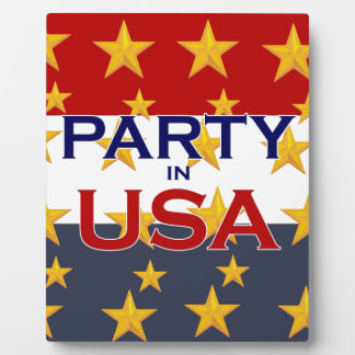 PARTY USA PLAQUES