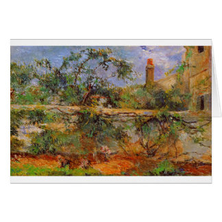 Party wall by Paul Gauguin Card