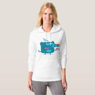 Party Wolf Womens Hoodie