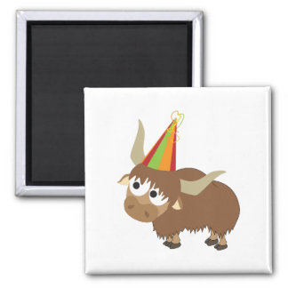 Party Yak Square Magnet