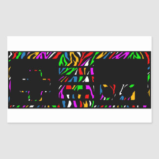 Party zebra print NES Controller Rectangular Sticker