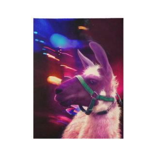 """Party zoo"" art print on wood fiber poster"