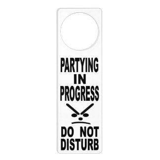 Partying In Progress Do Not Disturb Door Hanger
