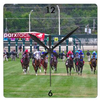 Parx Racing Square Wall Clock