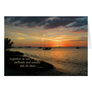 """Pas de deux"" ~ Crystal Beach, Florida Card"
