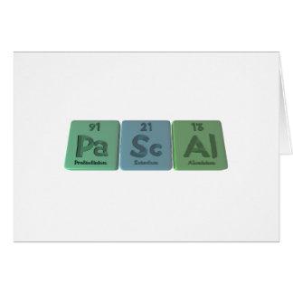 Pascal-Pa-Sc-Al-Protactinium-Scandium-Aluminium pn Greeting Cards