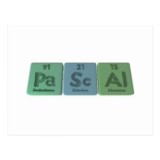 Pascal-Pa-Sc-Al-Protactinium-Scandium-Aluminium.pn Postcards