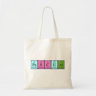 Pascual periodic table name tote bag
