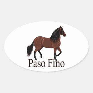 """Paso Fino Bay """"Paso Fino"""" Oval Sticker"""