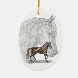 Paso Fino Horse Art Ceramic Ornament