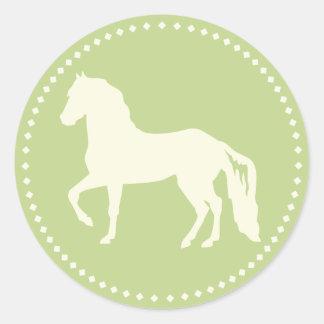 Paso Fino Horse Silhouette Classic Round Sticker