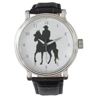 Paso Fino Horse Silhouette Rider Wristwatches