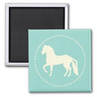 Paso Fino Horse Silhouette Square Magnet