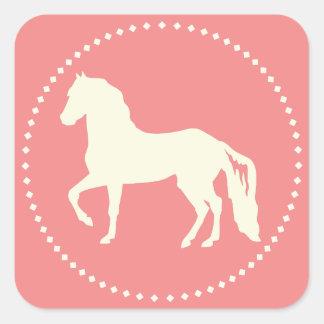 Paso Fino Horse Silhouette Square Sticker