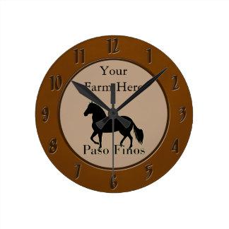 Paso Finos - Personalise It Round Clock